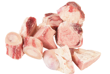 Frozen Beef Marrow/Leg Bones, cut 60mm - 1kg pack