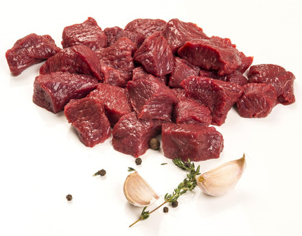 4 only (value pack) Frozen Angus Beef Diced (500g pack), price per 4 pack (2kg)