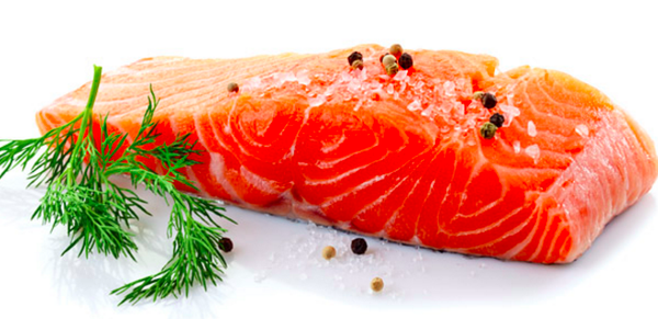 Frozen King Salmon Fillet Portions, Skin on Bone out, 150g portion vacuum packed, price per portion