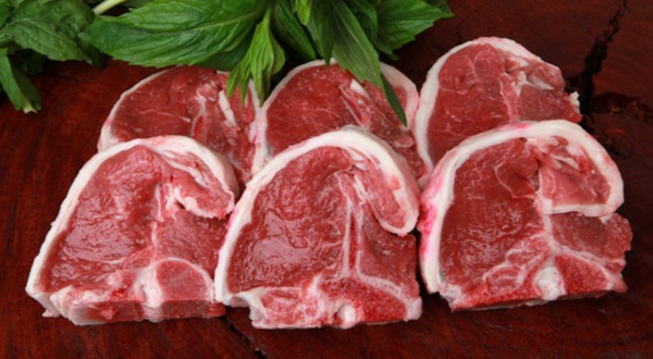 Lamb Loin Chops, 6 per pack of approx 600g, price/pack, frozen