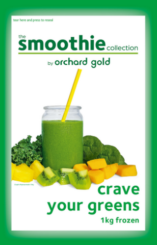the Smoothie Collection, Crave Your Greens, 1kg, price/pack, frozen