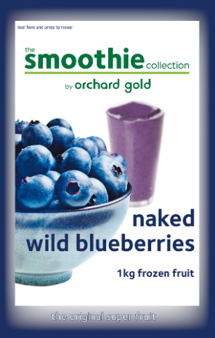 the Smoothie Collection, Naked Wild Blueberries, 1kg, price/pack, frozen