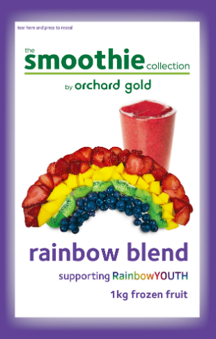 the Smoothie Collection, Rainbow Blend, 1kg, price/pack, frozen