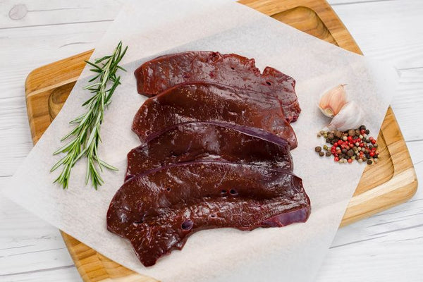Beef Liver, Grass-Fed, sliced 500g/pack, frozen