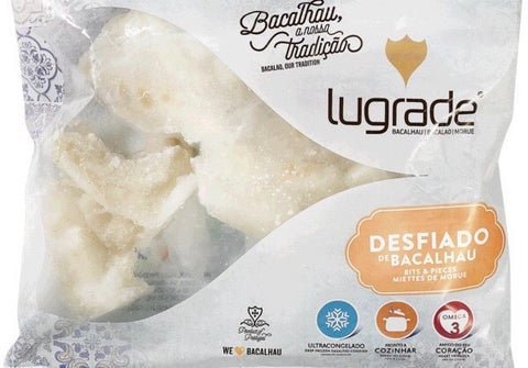 Frozen Wild Codfish (Bacalhau) Shredded (salty Portuguese style), 400g, price/pack