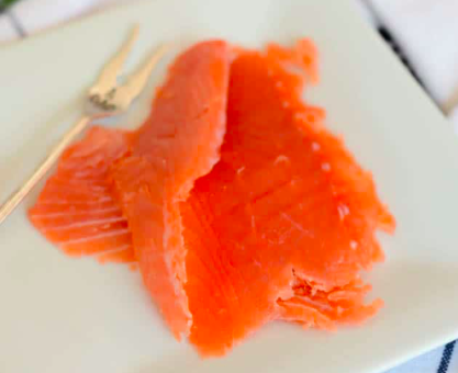 Cold Smoked Salmon Slices, Orange & Pepper, 114g per pack, frozen
