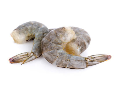 Frozen Black Tiger Prawns (Peeled Deveined Tail On), price/1kg box (16/20 prawns)