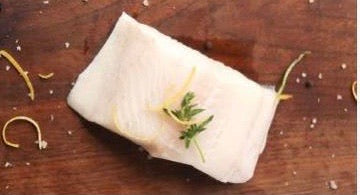Wild Black Cod fillet, skin on, boneless, belly off, 500g, 2 pce/pack, price/pack, frozen