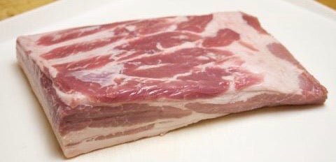 Frozen Pork Belly, Whole, Skin Off, 4kg