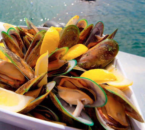 Live New Zealand Greenshell Mussels (Full Shell) 800g +/- price per pack