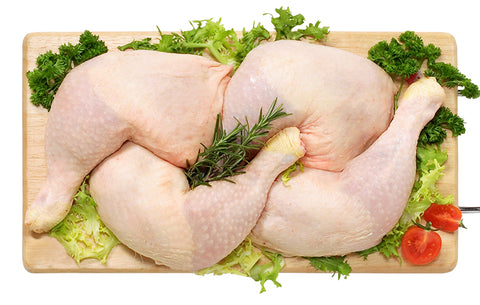 Fresh Organic (Halal) Chicken Whole Legs (Maryland), 500g pack (2-3 pcs)