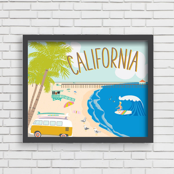 All Aboard: Life on the Beach! Art Print
