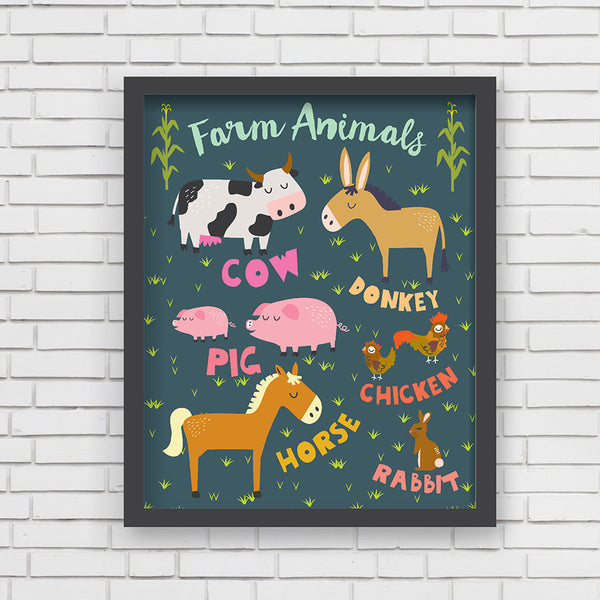 All Aboard: I love Farm Animals! Art Print