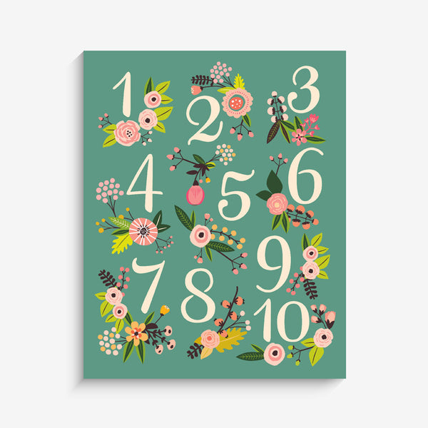Lil' Learner Numbers Art Print