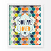 Honeycomb Love (Neutral) Art Print