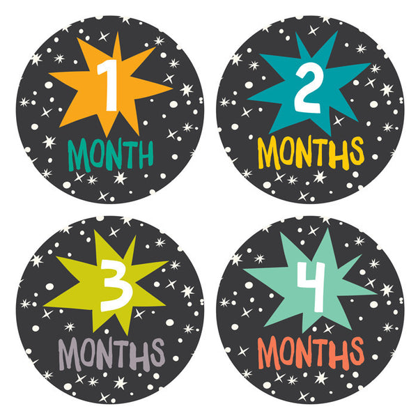 Star Bright Monthly Stickers