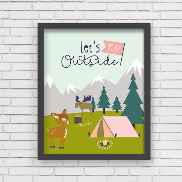 Play Outside Art Print-8x10