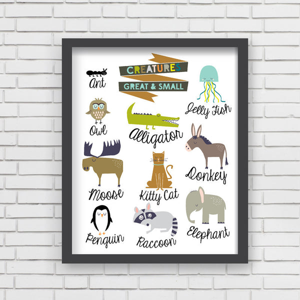 Creatures Great & Small Art Print