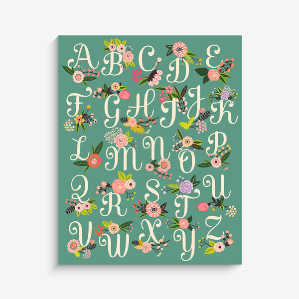 Lil' Learner Alphabet Art Print