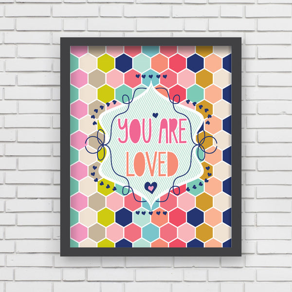 Honeycomb Love (Girl) Art Print