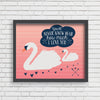 Mother Swan Art Print