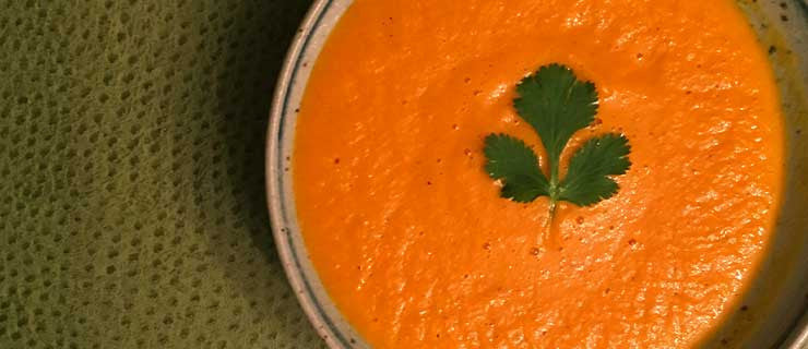 Chilled Carrot Orange Soup