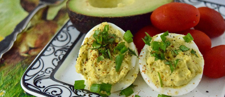 Avocado Curry Deviled Eggs
