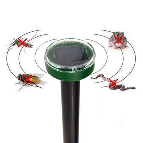 Garden Solar Power Ultrasonic Rodent/Snake  Repellent