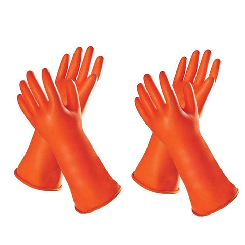 Industrial/Electrical/Heavy Duty/Cleaning Safety Gloves(Pack of 2)