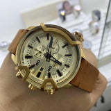Men's Diesel  3 Bar Chronograph Brown Leather Watch