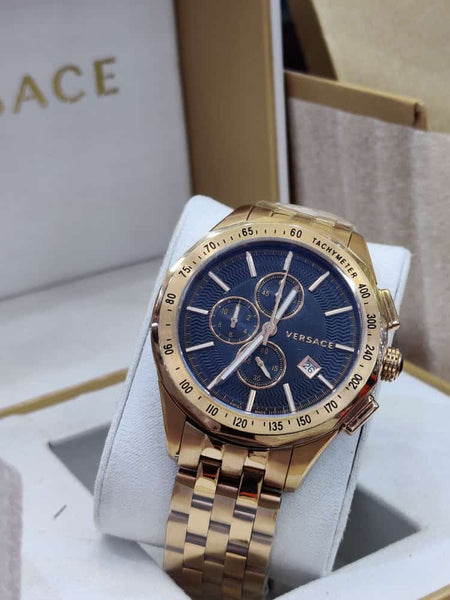 Versace Chronograph Gent Gold Chain Watch