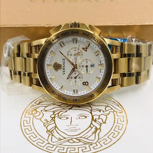 Versace Chronograph White Dial Gent Watch