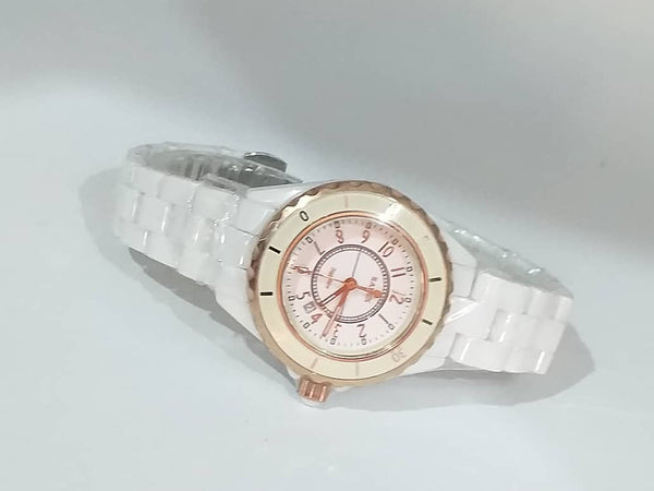 Rabex Gold Case Ceramic Ladies Watch