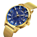 Skmei Quartz Stainless Steel Gold Bracelet Female Watch
