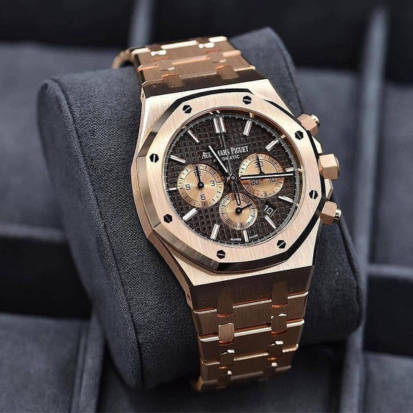 Audemars Piguet Royal Oak Rose Gold Brown Dial