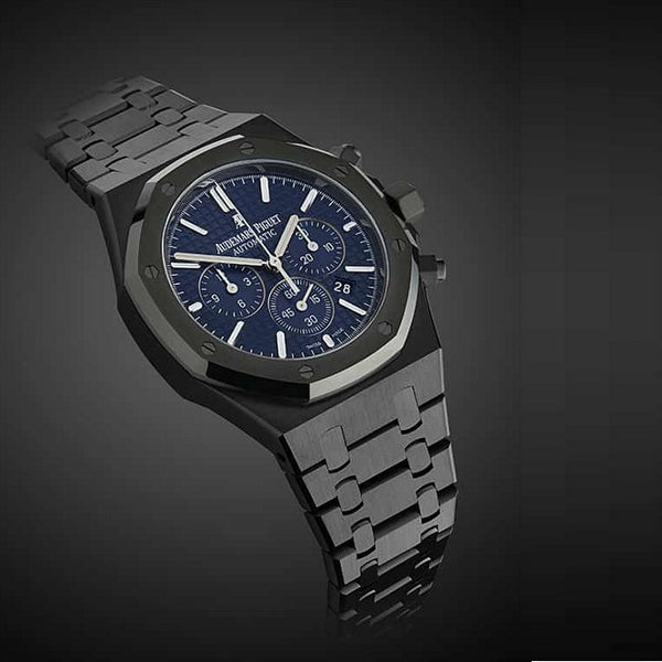 Audemars Piguet Royal Oak Titan Black Blue Dial Gents Watch