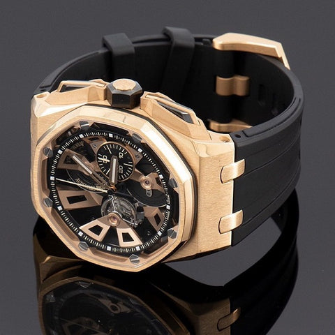 Audemars Piguet Skeleton Gold Case On Rubber Strap