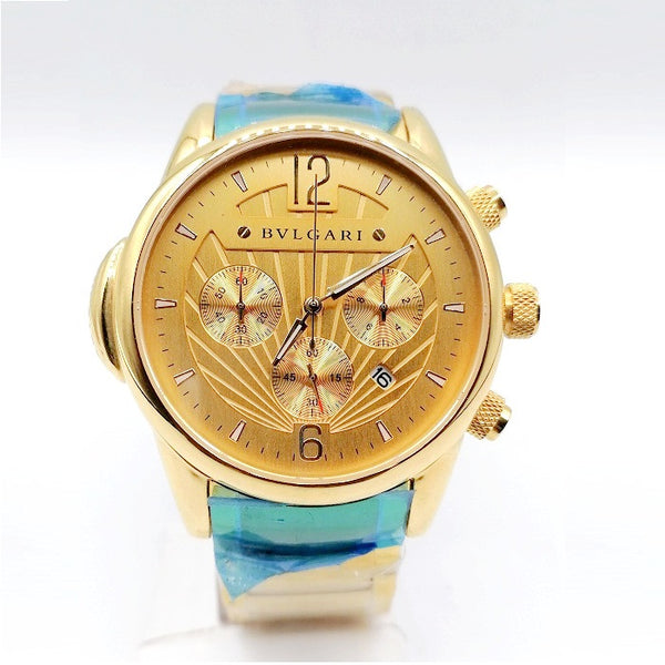 Bvlgari Chronograph Gold Chain Watch