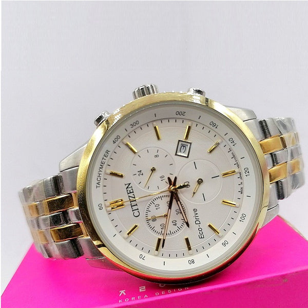 Citizen Two-Tone Eco Drive Chronograph Ladies And Gents Watch