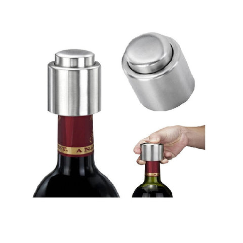 2Pcs Stainless Steel Vacuum Bottle Stopper