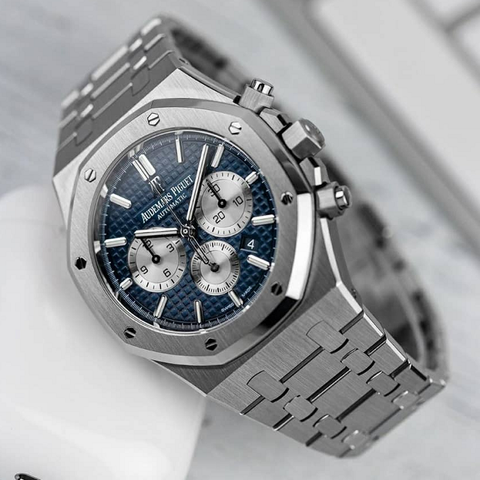 Audemars Piguet Royal Oak Silver Stainless Steel Blue Dial