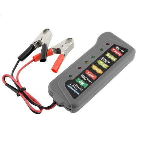 12V LED Digital Battery/Alternator Tester