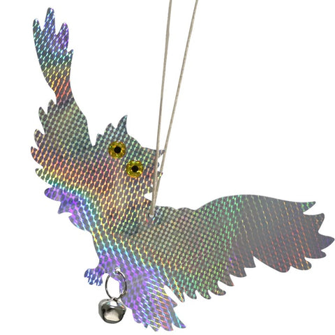 Laser Reflective Hanging Farm/Garden Scare Owl Birds Repellent
