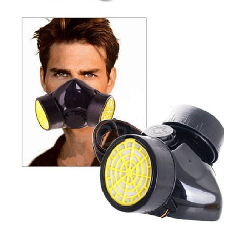 Dual Cartridges Filter Respirator Paint Dust Proof Mask