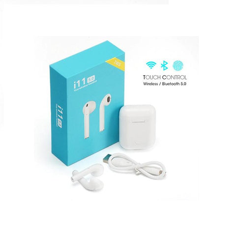 i11 5.0 True Wireless Touch In-Ear Waterproof EarPhone For iPhone Android