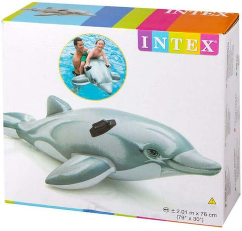 INTEX GIANT DOLPHIN INFLATABLE SWIMMING POOL RIDE(175CM*66CM)