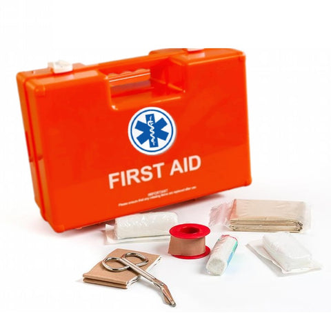 Plastic Emergency First Aid Box(10*7*5 Inches)