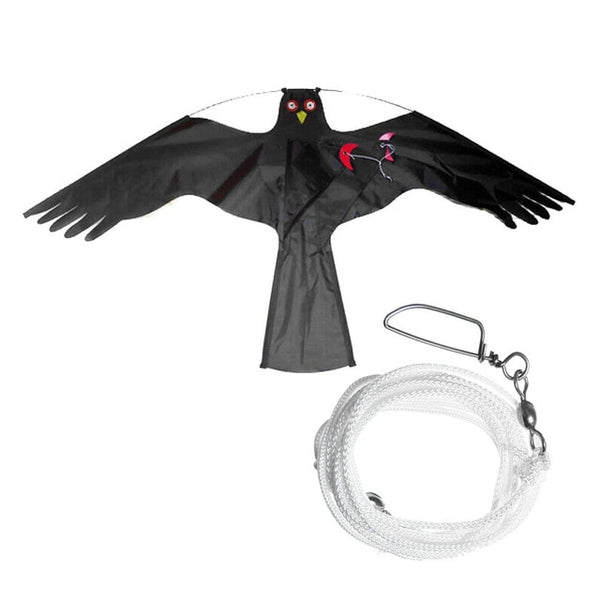 Emulation Black Bird Repellent Hawk Flying Kite Scarer Bird Repeller Pigeon Repellent Insect Pest Control for Scarecrow Garden