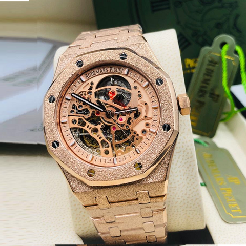 Audemars Piguet Royal Oak Double Balance Wheel Openworked Shinning Gold Watch