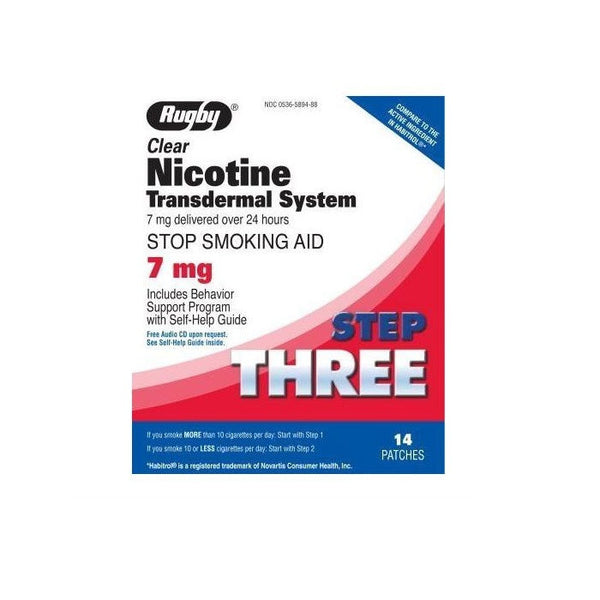 Step 3 Nicotine Transdermal System Patch(7mg,14 Patches)